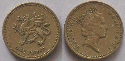 england 1 pound welsh dragon