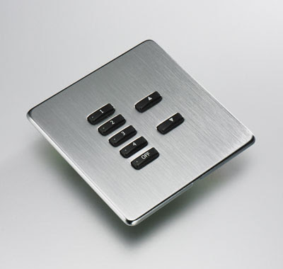 Rako Wireless RLF070 - Rako 7-Button lighting screwless plate kit(flush plate switch)