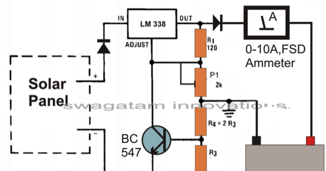 How To Make Solar Battery Charger on initiating circuit diagram
