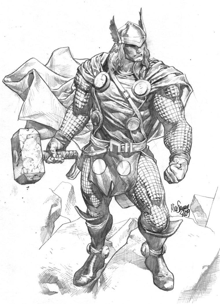 Thor Pic Black White