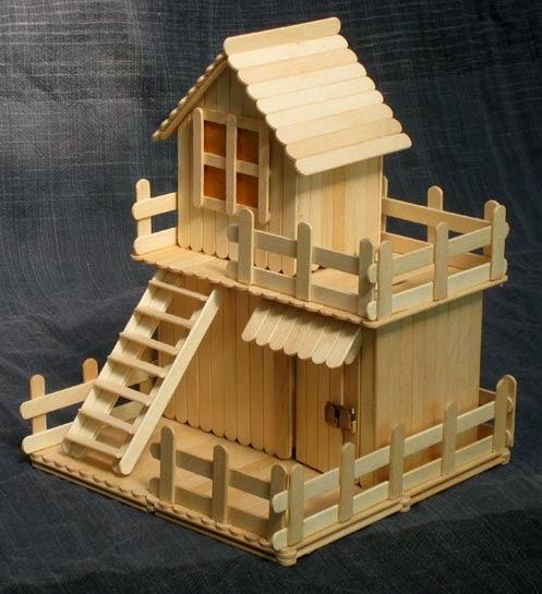 Barbaridade reciclagem casinhas de palitos de picol for Things to include when building a house
