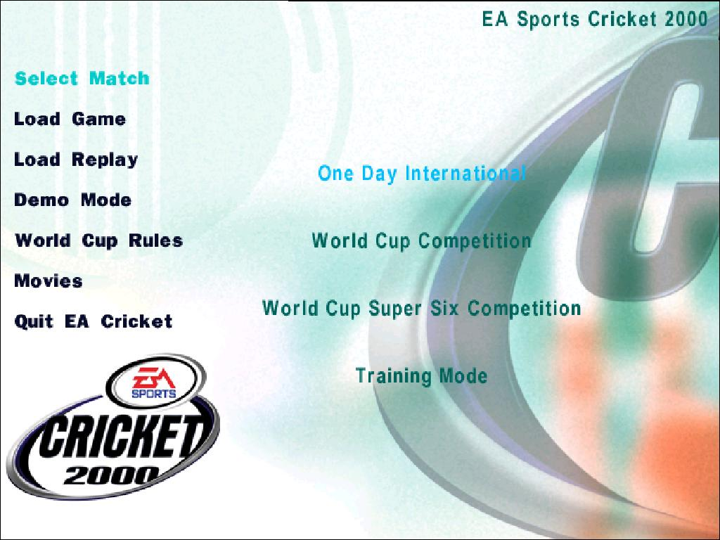 EA Sports Cricket 2000 PC Game