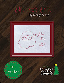 meags and me ho.ho.ho stitchery pattern