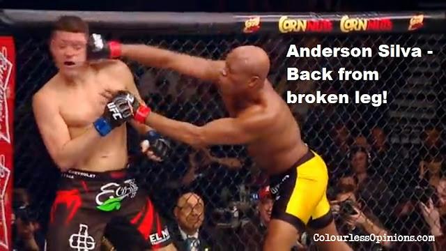 Anderson Silva Nick Diaz punch UFC 183