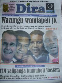 Soma gazeti la Dira ya Mtanzania(hoja ya wote)kila Jumatatu na Alahamisi