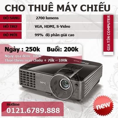 bảng giá cho thuê máy chiếu tại đà nẵng