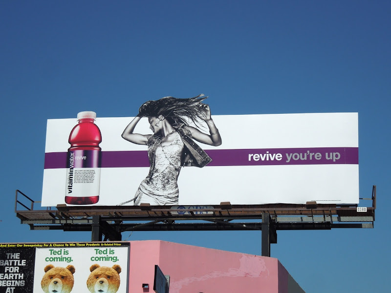 Vitamin Water revive billboard