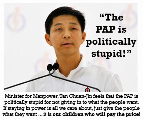 PAP failed policies Tan Chuan-Jin
