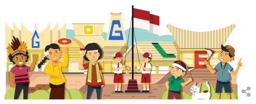 Logo google doodle 17 agustus tahun 2014
