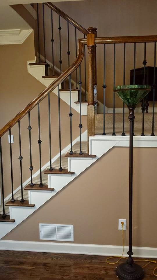 iron baluster installation woodstock