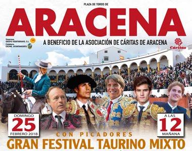 ARACENA 25-02-2018. FESTIVAL MIXTO TAURINO PICADO  PARA CÁRITAS DE ARACENA.