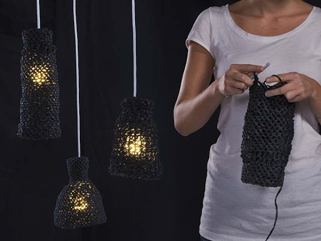 la maison d 39 anna g une lampe crochet e. Black Bedroom Furniture Sets. Home Design Ideas