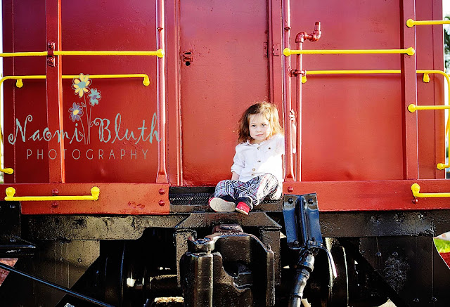 Boca raton child photographer train station Naomi Bluth Photography