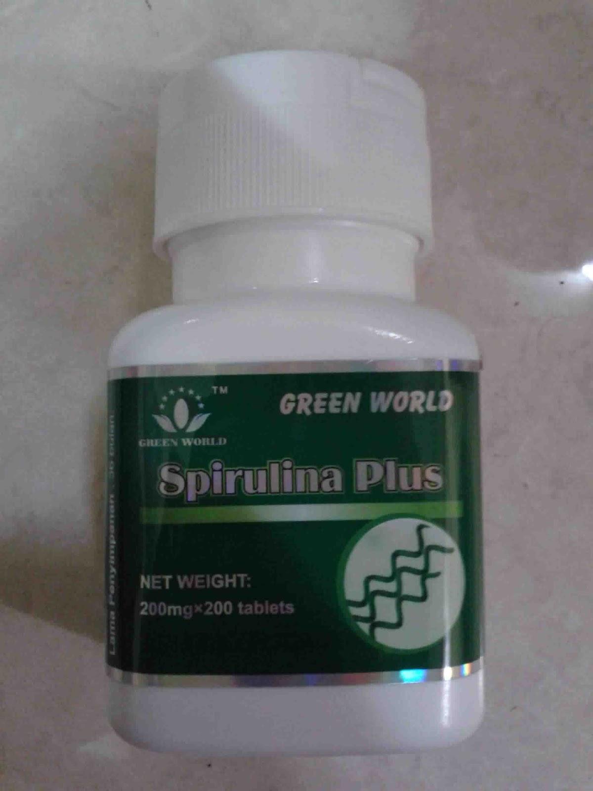 Green World Paket Penggemuk Badan Herbal Alami Tanpa Efek Samping Spirulina Plus Tablet