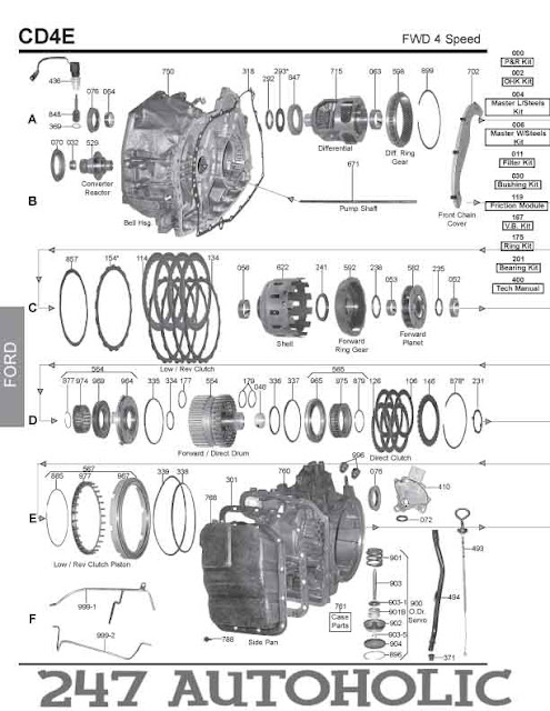 ford ax4s transmission diagram