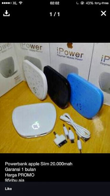 Power bank merk apple, asli atau palsu