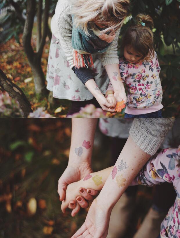 Diy Temporary Fall Leaf Tattoos Easy Photoshop Tutorial