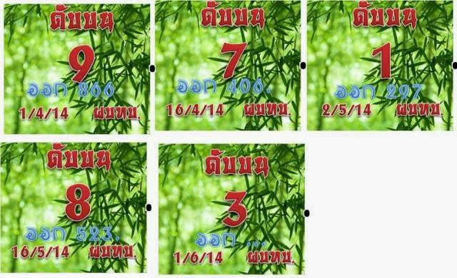 Thai Lotto 3up Cut Digit 01-06-2014