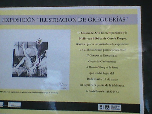 MADRID CARTOON EXHIBITION  WITH SUBJECT THE  GREGUERIAS OF R.G.DE LA SERNA