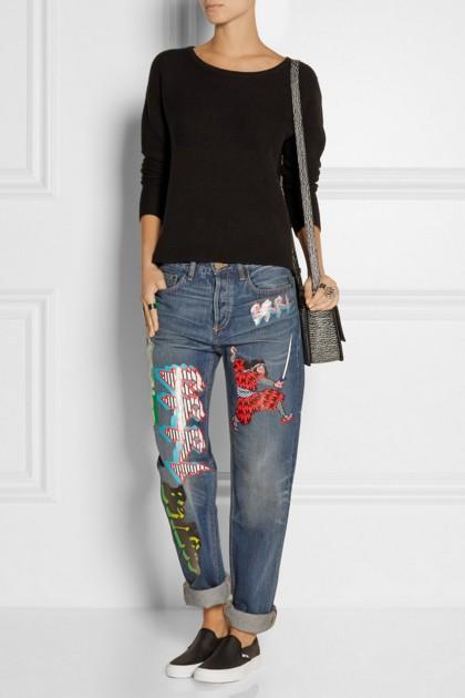 Jeans Boyfriend impresos