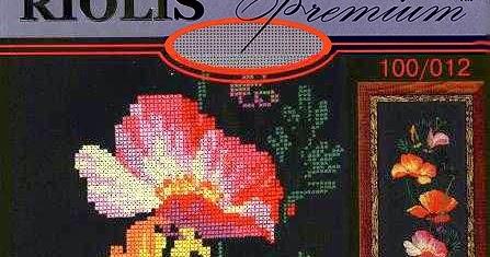 Схема вышивки калифорнийский мак риолис 93