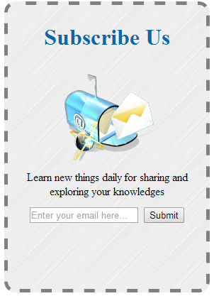 email subscription blogger