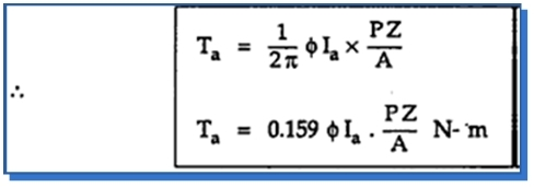 Torque equation of a d c motor your electrical home for Electric motor torque calculator