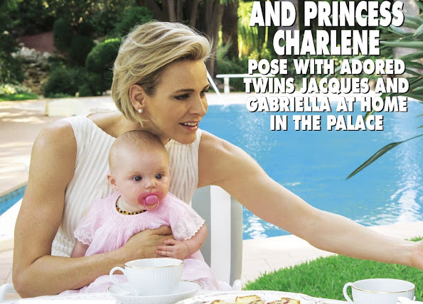 Prince Albert of Monaco and Princess Charlene of Monaco posed for photos with their twins Gabriella and Jacques