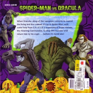 Back cover of Ultimate Spider-Man vs Dracula