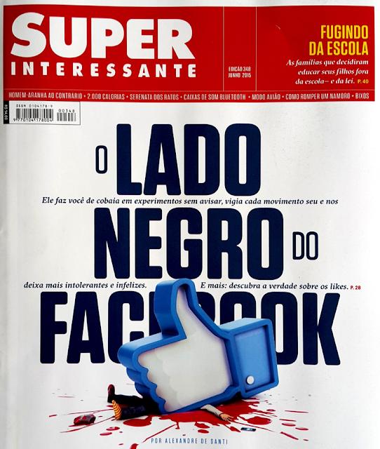 Capa da revista super interessante sobre o lado negro do facebook - www.renatho.com.br