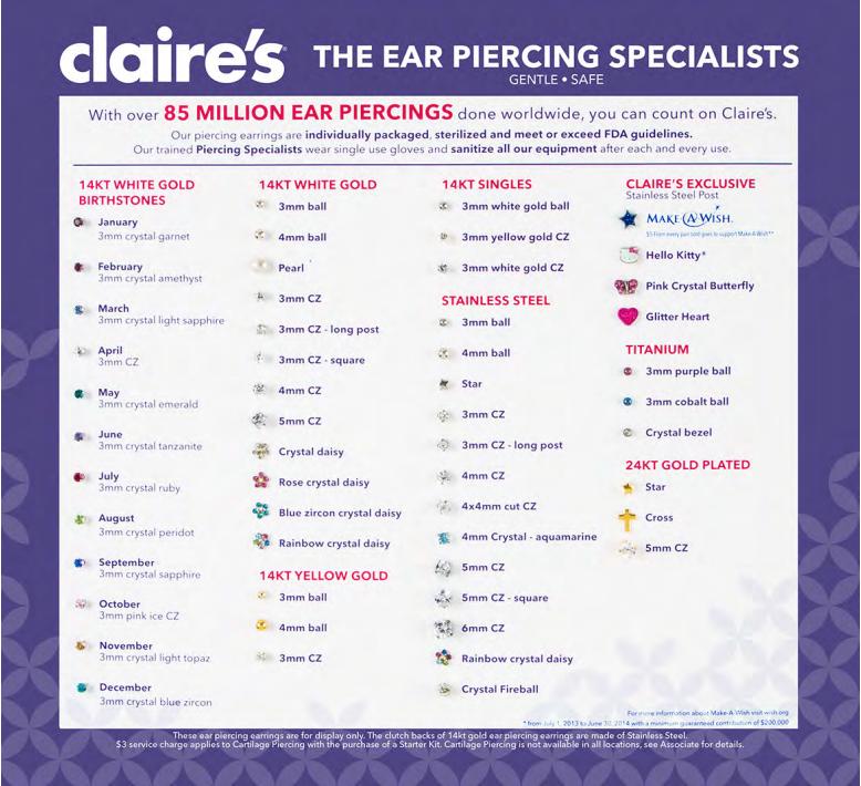 Claires Boutique Ear Piercing Coupon Best Tv Deals Under 1000