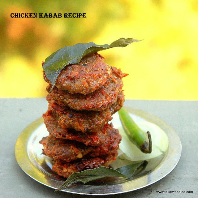 Chicken Kabab recipe , Step wise pictures