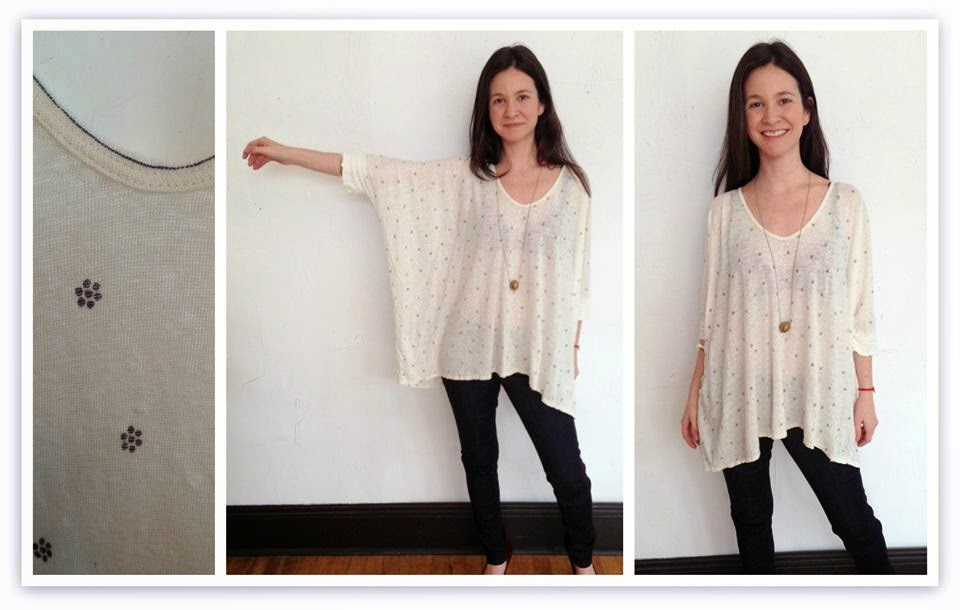 Trisha Box Top by Pete & Greta ($154), Level 99 Jeans, and necklace by MIN ($35) at Folly