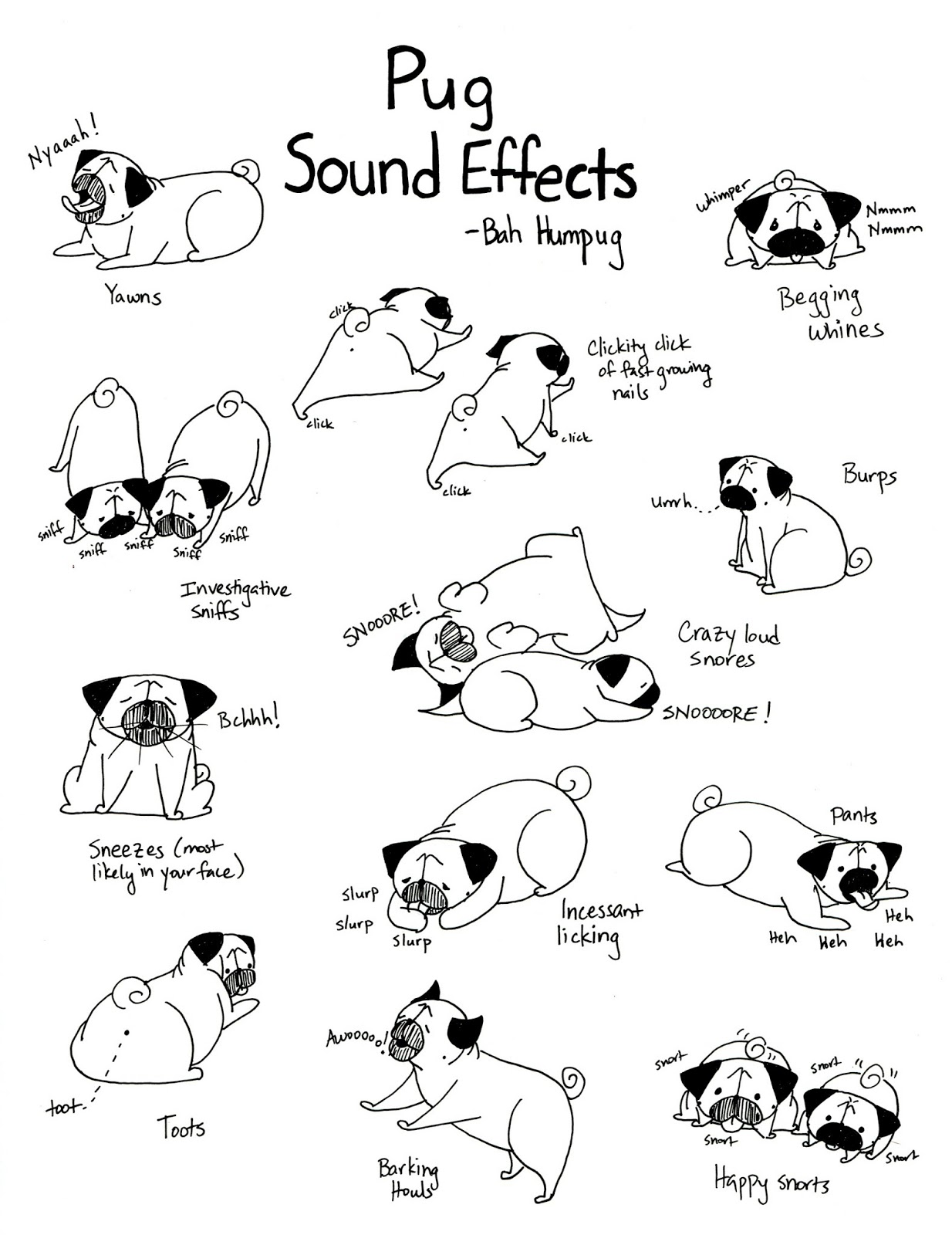 Drawing Lines Sound Effect : Bah humpug pug sound effects