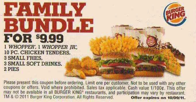 Coupons burger king november