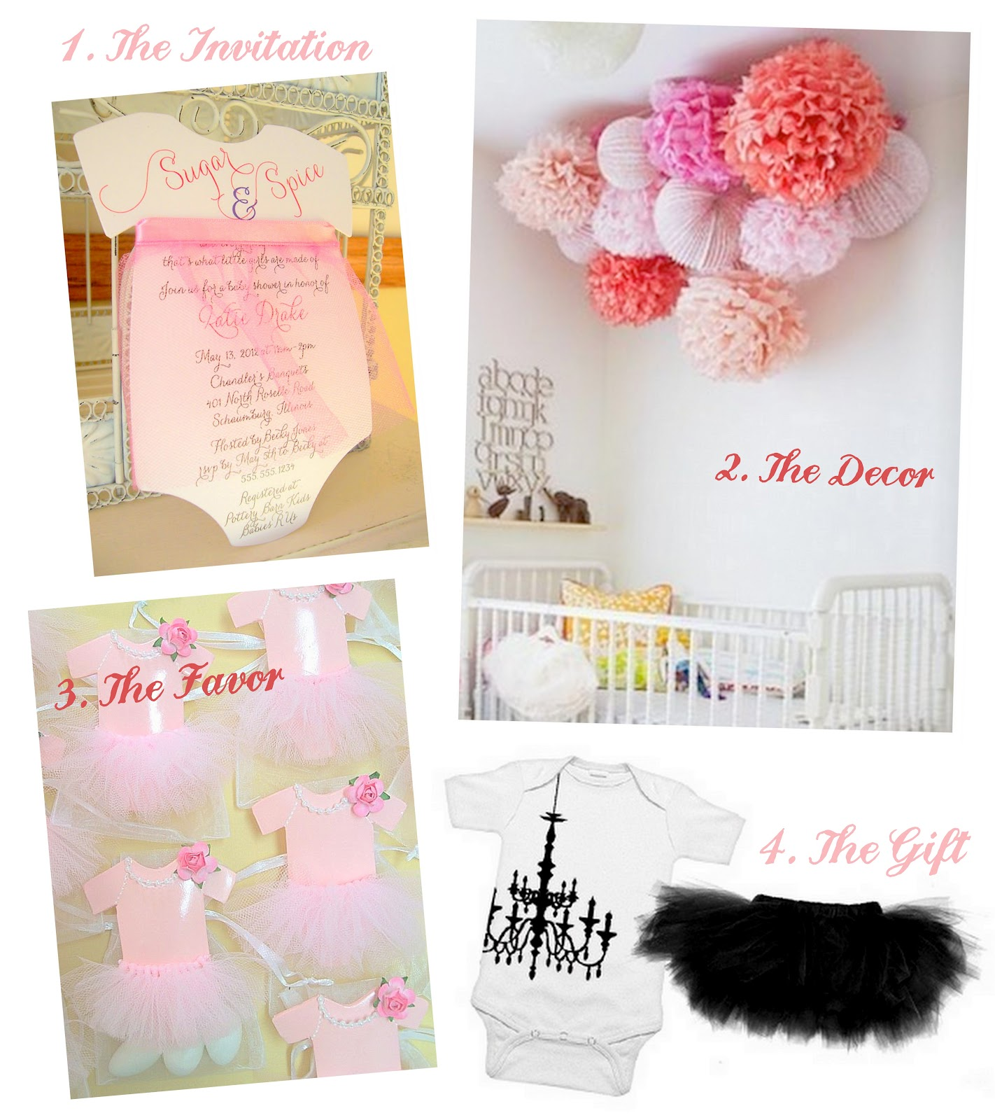 tutu sugar spice baby shower invitation