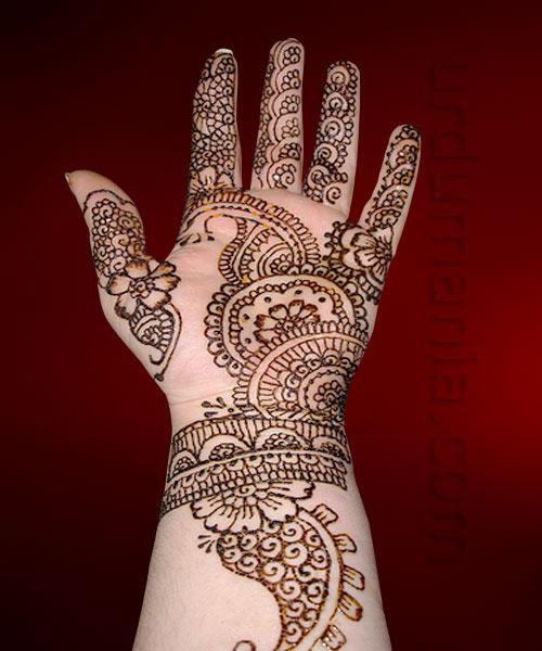 Mehndi Designs Ke : Wonderful arabic mehndi ke design cuonun
