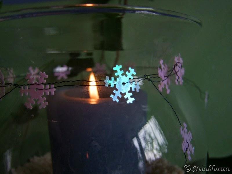Schneeflockendeko