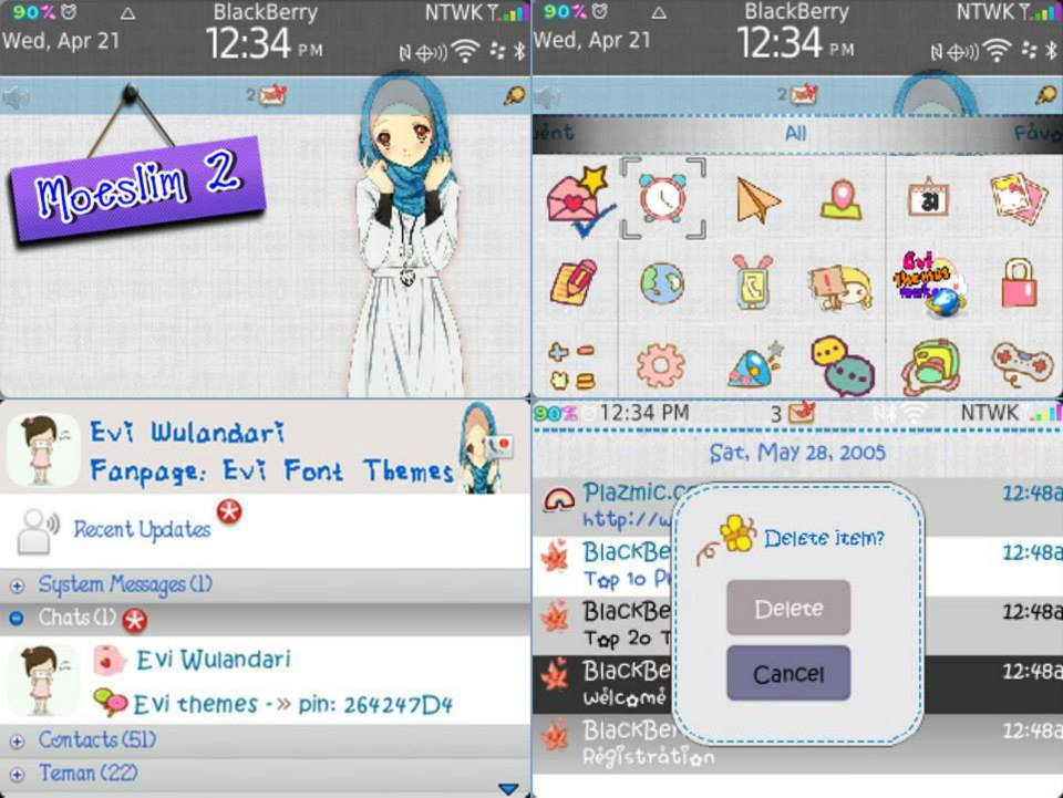 Arin Blackberry Themes (Jual Tema Blackberry)