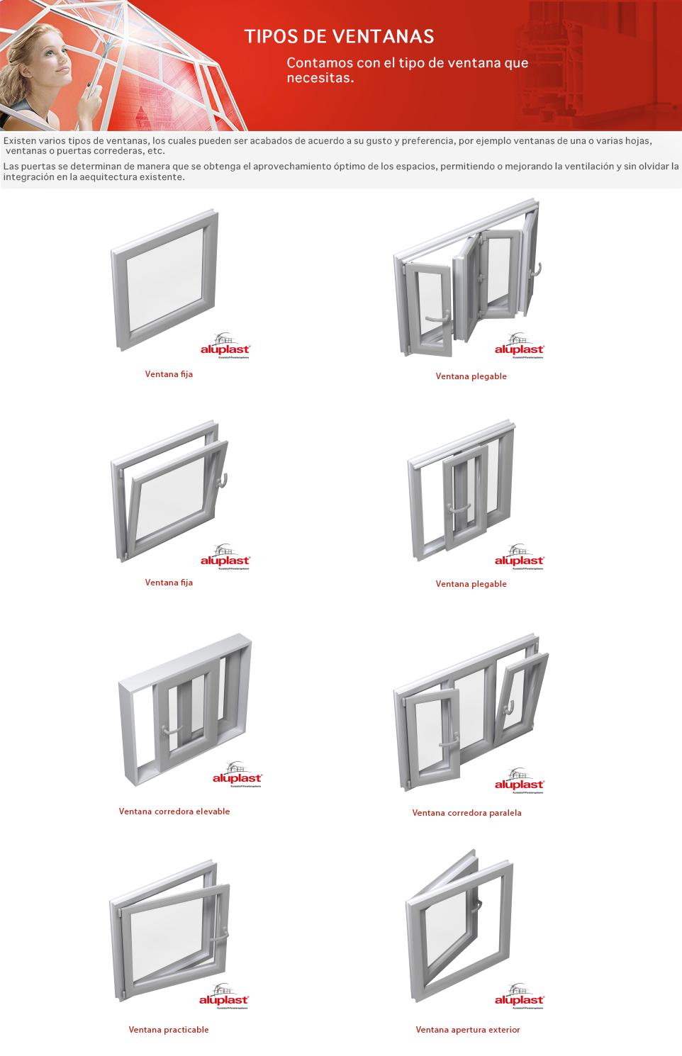 Tipo de ventanas tipo with tipo de ventanas best ventana for Tipos de aluminio para ventanas