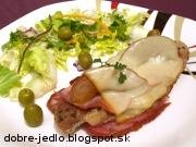 Zapekané rezne s údeným mäsom - recept