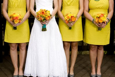 Bridesmaid Dresses Yellow on Bridesmaids Gowns  Short Bright Yellow Bridesmaid Dress Ideas