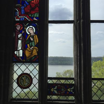 View of the Hudson River from The Cloisters