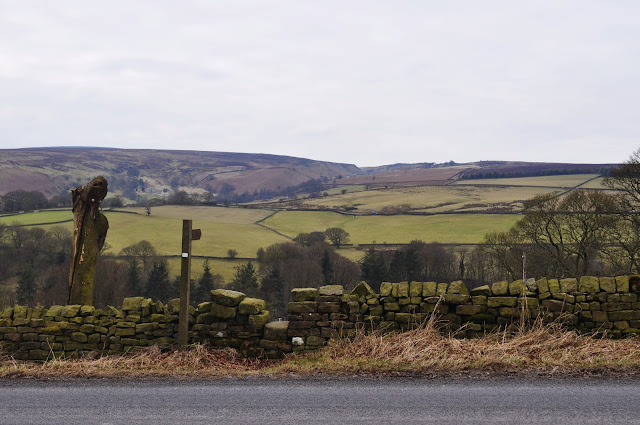 View of Dry Stone Wall in Yorkshire