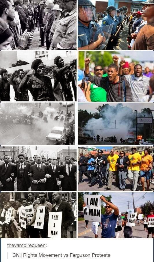 Ferguson Riots vs Civil Rights Movement