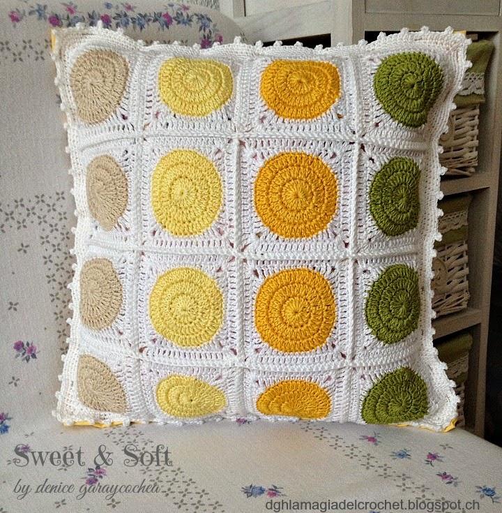 La magia del crochet cojin sommer - Cojin de crochet ...