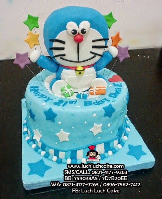 Kue Tart Doraemon 3D Fondant Daerah Surabaya - Sidoarjo