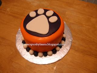 Clemson tiger paw birthday cake