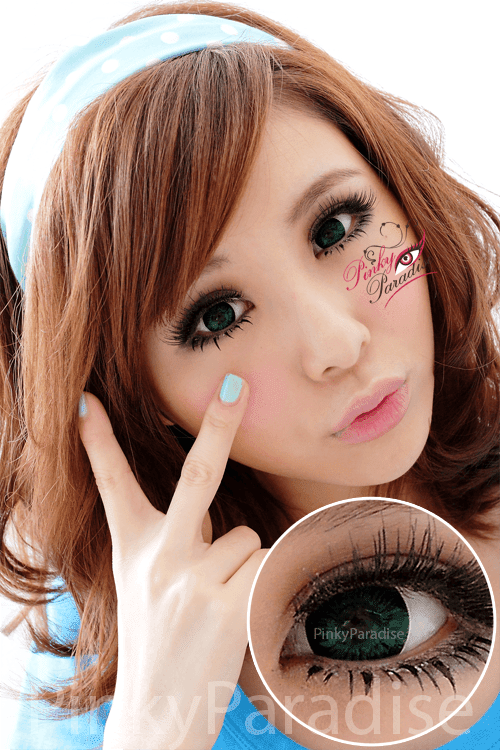 Vassen Ruby Green Circle Lenses (Colored Contacts)
