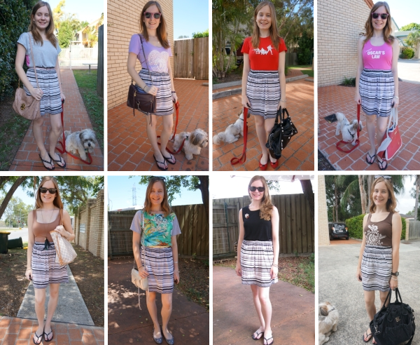 Away From Blue | Worn 8 ways: Cheap Monday Interrupted stripe skirt